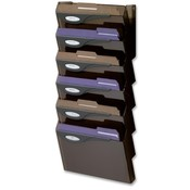 "Rubbermaid  Wall File System Set, 7 Compartments, 13""x4""x29-1/4"", Smoke"