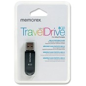 Memorex Mini-Travel Flash Drive, 2.0, 8GB, Black