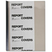 C-Line Products, Inc.  Report Covers, w/ Binding Bars, 50/BX, Smoke Vinyl