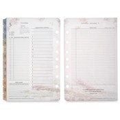 "Franklin Covey  Planner Refill,Daily,2PPD,Jan-Dec,Blooms,4-1/4""x6-3/4"""