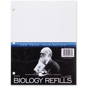 Roaring Spring Paper Products Biology Filler Paper, 3HP, 11'x8-1/2', 20/PK, White Wholesale Bulk
