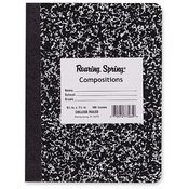 Roaring Spring Paper Products Composition Book,College Ruled,100 Sh,9-3/4'x7-1/2',BK Cvr Wholesale Bulk