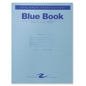 Roaring Spring Paper Products Exam Book, Wide Ruled, 8 Shts, 11'x8-1/2', 50/PK, Blue Wholesale Bulk
