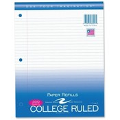 Roaring Spring Paper Products Filler Paper,College Ruled,11'x8-1/2',3HP,300 Sh/PK,White Wholesale Bulk