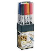 Uchida of America  Double-Tip Marker,Medium/Fine Points,Water-Base Ink,Assorted