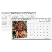 House of Doolittle  Tent Calendar,Desktop,&quot;Puppies&quot;,12 Month,Jan-Dec,8-1/2&quot;x4-1/2&quot;