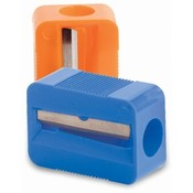 Baumgartens Single Sharpener,w/ Steel Blade,Plastic,1-1/8' L,Assorted Wholesale Bulk
