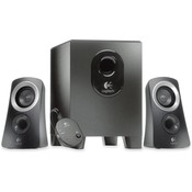 Logitech, Inc Speaker System,25 Watts,1 Subwoofer,2 Satellite Speakers,BK