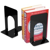 Charles Leonard Co. Bookends, Non-skid, 9', Steel, 2/PR, Black Wholesale Bulk