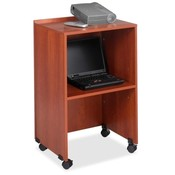 "Safco Products Company  Lectern/Media Stand, 21-1/4""x17-1/2""x33-3/4"", Cherry"