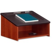 "Safco Products Company  Tabletop Lectern, 24""x18-1/2""x13-3/4"", Cherry"