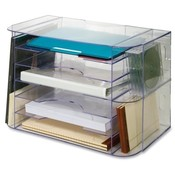 "Sparco Products  Jumbo Desk Sorter, 18-1/8""x10""x12-1/4"", Clear"