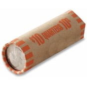 MMF Industries Tubular Coin Wrapper, 10 Quarters, 1000/PK, Orange