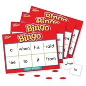 Trend Enterprises  Sight Words Bingo Games,46 Practice Words,36 Cards,200 Chips