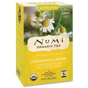 NUMI Organic Tea Herbal Tea, Organic, 18 Bags/BX, Chamomile Lemon