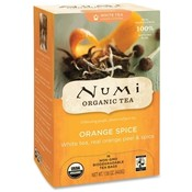 NUMI Organic Tea White Tea, Organic, 16 Bags/BX, Orange Spice