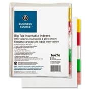 "Business Source  Index Dividers, 5-Tabs, 11""x8-1/2"", White Stock/Multi Tabs"