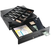"MMF Industries Cash Drawer,High Security,Steel,16-3/4""x18""x4-3/4"",Black"