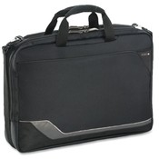 US Luggage  Laptop Portfolio, 16-1/2&quot;x5&quot;x12&quot;, Black