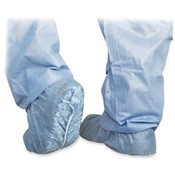 Medline Industries, INC.  Scrub Shoe Cover, Skid-Resistant, 100/PK, Blue