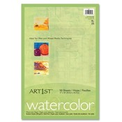 "Pacon Corporation  Watercolor Paper, 90lb., 12""x18"", 50SH/PK, White"