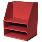 "Pacon Corporation  Desk Organizer, 16-1/2""x13-1/2""x10-3/4"", Red"