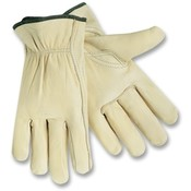 R3 Safety  Driver Gloves, Medium, Leather/Cream