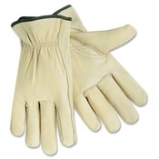 R3 Safety  Driver Gloves, X-Large, Leather/Cream