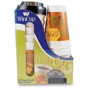 Wincup Cup Lid, 16oz., 10/PK, Multi