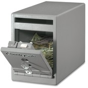 "Sentry Safe Safe, Drop Slot, Dual Key Lock, 6""x12-1/4""x8-1/2"", Gray"