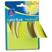 Avery Consumer Products Label Book, Wavy, 80/PK, 1'X3' NEYW/ 2'X3' NEGN Wholesale Bulk