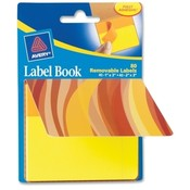 Avery Consumer Products Label Book, Wavy, 80/PK, 1'X3' NEOE/ 2'X3', NEYW Wholesale Bulk