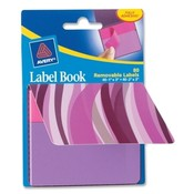 Avery Consumer Products Label Book, Wavy, 80/PK, 1'X3', NEGN/ 2'X3' NEBE Wholesale Bulk