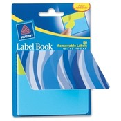 Avery Consumer Products Label Book, Wavy, 80/pk, 1'X3' NEMA/ 2'X3' NEPE Wholesale Bulk