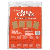 Aurora Products Bookcovers, 4/PK, Kraft