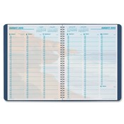 "Day-timer  Weekly Appointment Planner,2PPW,Jan-Dec,8""x11"",Blue Cover"