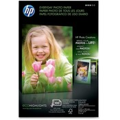 Hewlett-Packard Everyday Photo Paper,Glossy,4&quot;x6&quot;,53lb,100/PK,White