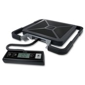 Pelouze Manufacturing Company  Digital Scale, Portable, USB Shipping, 100lb., BK/SR