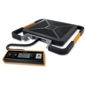 Pelouze Manufacturing Company  Digital Scale, Portable, USB Shipping, 400lb., BK/SR