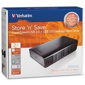 Verbatim Corporation USB 3.0 Desktop Hard Drive, 2TB, Black