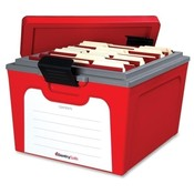 "Sentry Safe  Guardian Storage Box, Ltr/Lgl, 12-3/5""x19-4/5""x15-4/5"", Red"