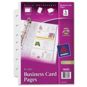 Avery Consumer Products Business Card Pages, 7HP, 5-1/2'x8-1/2', 5/PK, Clear Wholesale Bulk