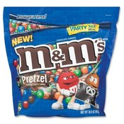 Candy, M&M/Pretzels, Resealable Zipper, 30 oz.