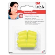 3M Commercial Office Supply Div. Earplugs, Disposable, 4PR/PK, Yellow Wholesale Bulk