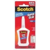 3M Commercial Office Supply Div.  Super Glue Liquid, Precision Applicator, .14oz., Clear