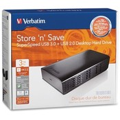 Verbatim Corporation USB 3.0 Desktop Hard Drive, 3TB, Black