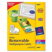 "Avery Consumer Products  Multipurpose labels, Oval/Remov, 1-1/2""x2-1/2"", 180/PK, WE"