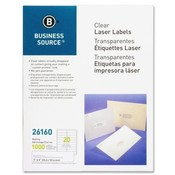 "Business Source  Laser Labels, Permanent Adhesive, 1""x4"", 1000/BX, Clear"
