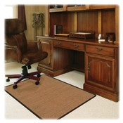 Deflect-O Corporation Chairmat, Color Band Sisal, Low Pile Carpet, 45&quot;x53&quot;, LTBN