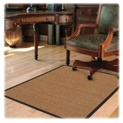 Deflect-O Corporation Chairmat, Color Band Sisal, Hard Floor, 46&quot;x60&quot;, LTBN